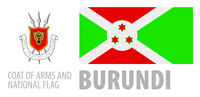 Vector set of the coat of arms and national flag of Burundi
