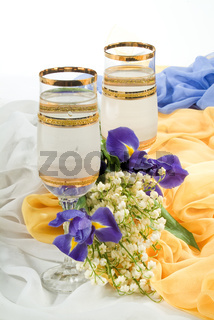 Glasses And Flowers