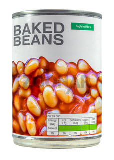 Isolated Can Of Baked Beans