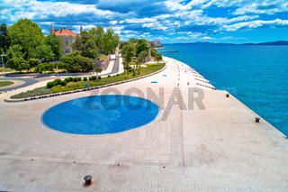Zadar. Town of Zadar famous tourist attractions aerial view