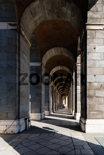 Arcade in the Royal Palace of Madrid