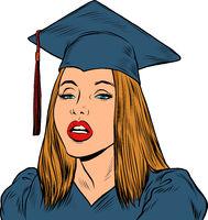 Girl student of university college