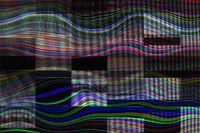 Abstraktes digitales Wellenmuster
