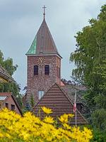 Backsteinkirche in Wöhrden, Schleswig-Holstein, Deutschland, Europa