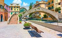 View of Bogliasco town near Genoa
