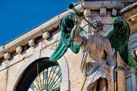 Venice, Italy - 03/15/2019 - statue at Santa Maria zobenigo