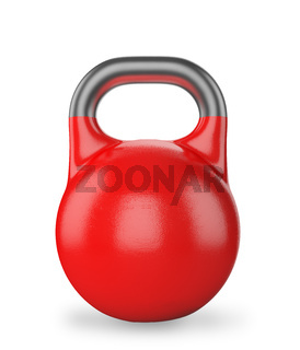 Gym equipment weight kettle bell isolated