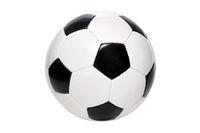 Schwarz-weißer Lederfussball