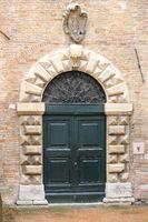 Wooden medieval style front door