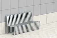 Metal waiting bench
