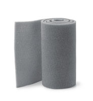Roll of gray foam rubber sheet
