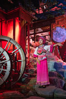 Woman singing during tribe of the Three Gorges folk show