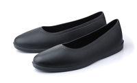 Pair of black rubber overshoe waterproof galoshes