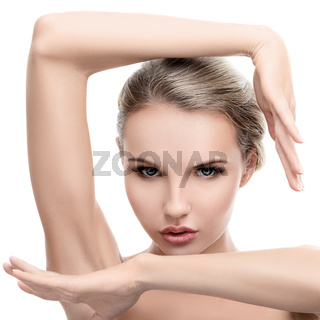 Young woman with perfect clean skin