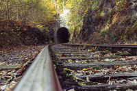 verlassenen Eisenbahnstrecke