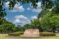 Large memorial rock Stone marker in Yangshuo