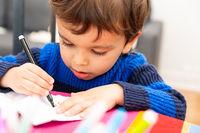 Toddler drawing at home