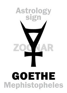 Astrology: GOETHE (Mephistopheles), asteroid N°3047