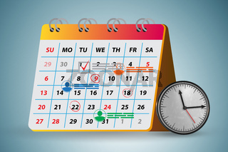 Calendar concept for planning purposes - 3d rendering