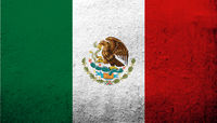 The United Mexican States (Mexico) National flag. Grunge background