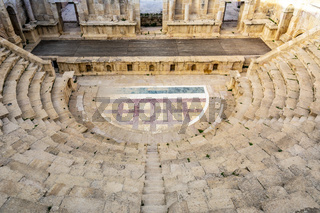 Northern Theatre, Roman Ruins of Gerasa, at the historical site of Jerash in Jordan