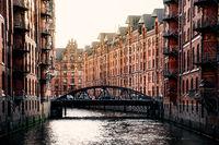 The Warehouse District or Speicherstadt in Hamburg.