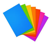 Colorful rainbow Blank A4 paper sheet range on white background