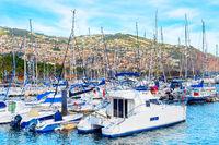 Marina, yachts, motorboats, Funchal, Madeira