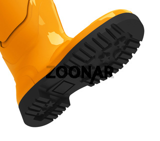 the orange gumboot