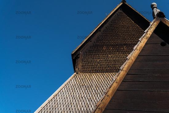 Stabkirche in Ringebu, Norwegen