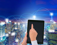 Smart city in innovation concept