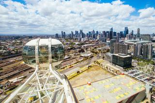 Melbourne Skyline from Melbourne Star in Australia