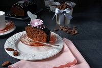 Delicious homemade juicy chocolate cake