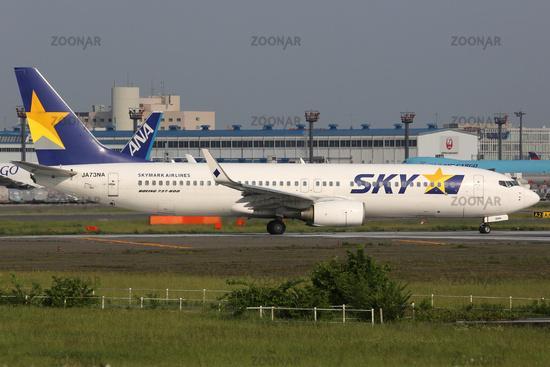 Skymark Airlines Boeing 737-800 in Tokio Narita