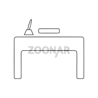 Office Desk Icon Vector