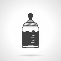 Baby bottle black vector icon