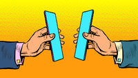 business online communication smartphone
