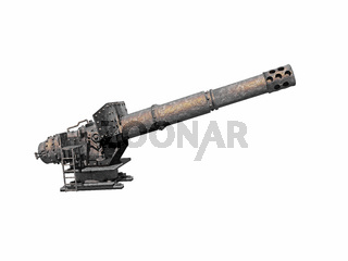 stählernes Geschütz mit Kanonenrohr