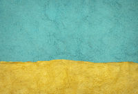 blue and yellow abstract paper landscape