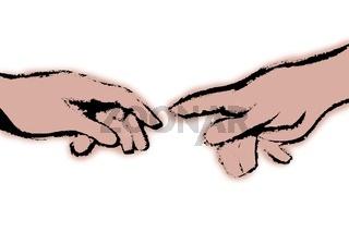 Michelangelos Fingerzeig weiss