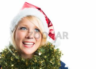 weihnachtsfrau mit mütze