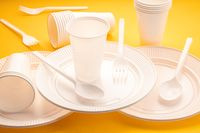 Disposable plastic dishware
