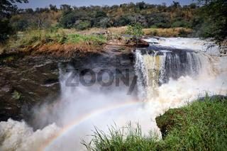 Die Murchsion Falls im Murchison Falls Nationalpark Uganda | The Murchison Falls at Murchison Falls National Park Uganda