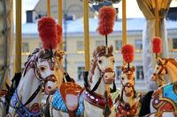 Colourful Carousel Horses
