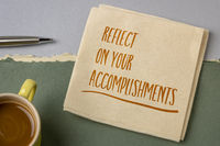 reflect on your accomplishments inspirational note