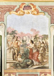 Herakles und Hesione, Saal der mythen