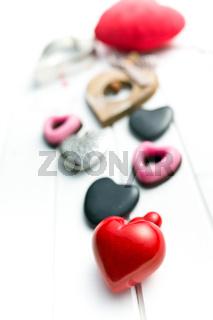 various valentine hearts