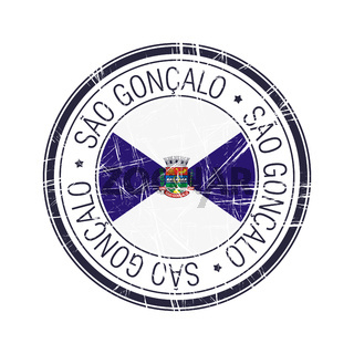 City of Sao Goncalo, Brazil vector stamp