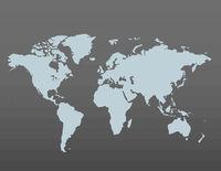 Gray similar world map blank for infographic on dark background. Vector illustration.