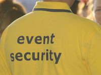 man with event security shirt